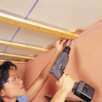 Fix a Sagging Plasterboard Ceiling