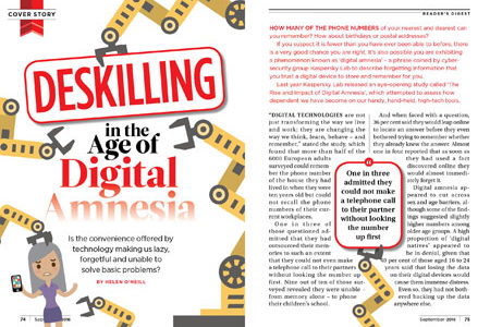 Deskilling in the Age of Digital Amnesia