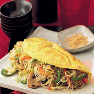 Stuffed Thai omelette