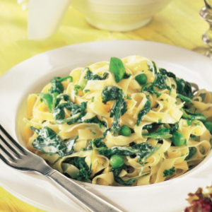Tagliatelle with green sauce