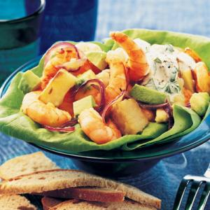 Potato and Avocado Salad with Prawns