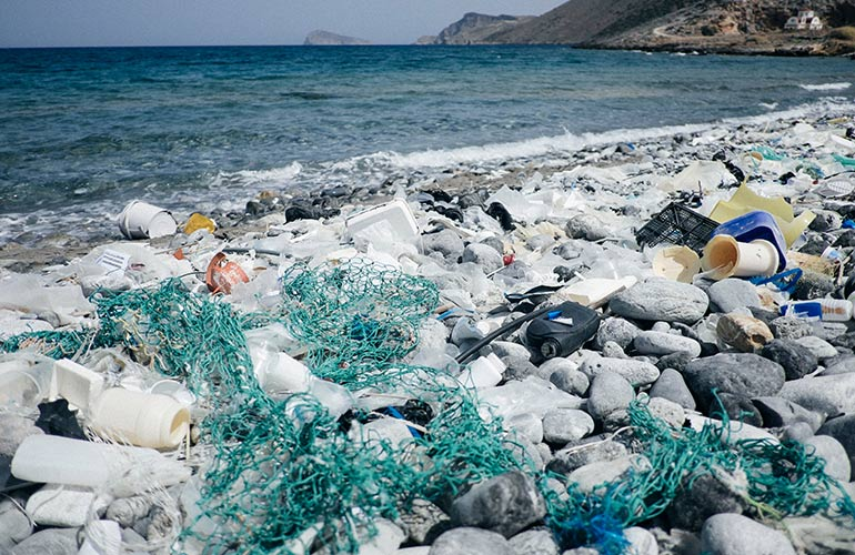 Plastic ends up in our oceans