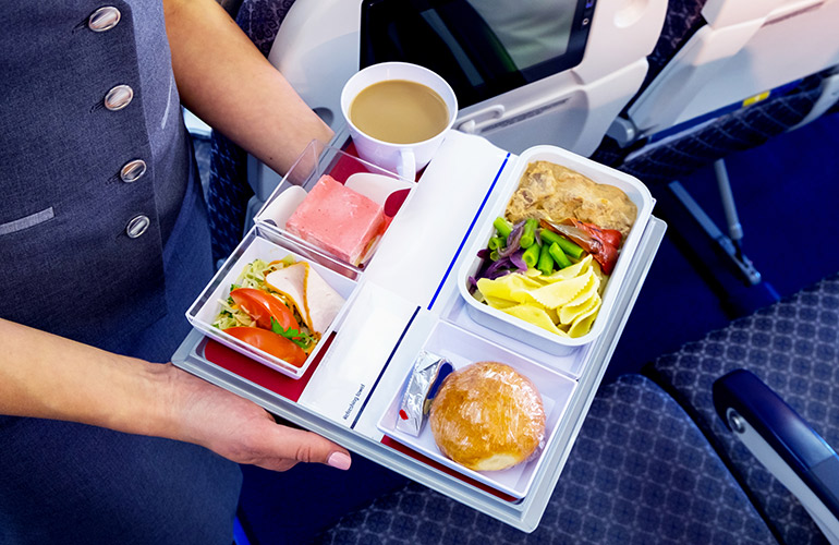 We're actually jealous of your onboard meal