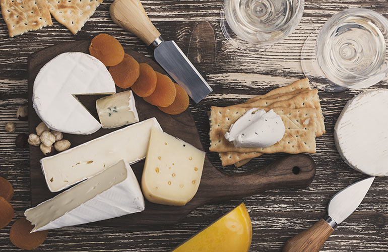 3. Cheese and crackers
