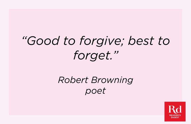 On forgiveness and forgetting