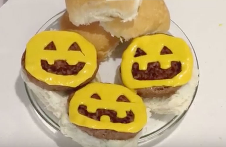 5. Spooky Cheese Burgers