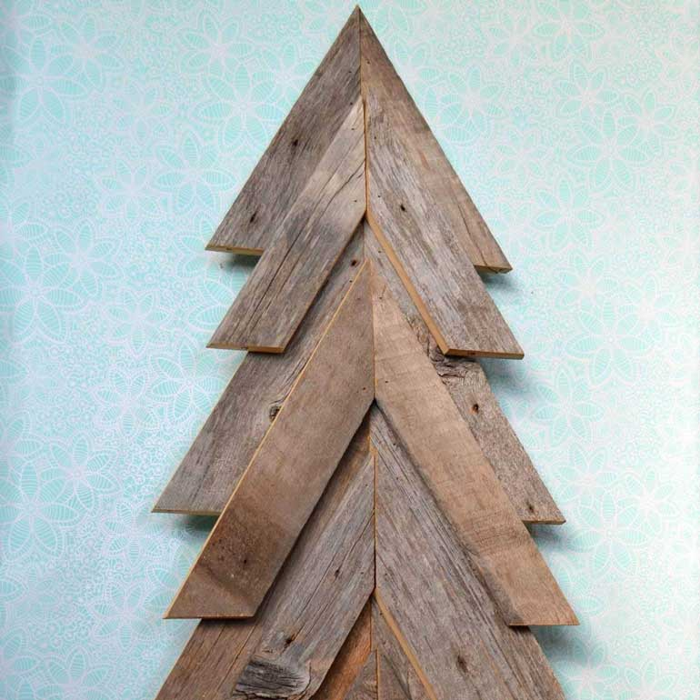 7. Reclaimed Wood Tree