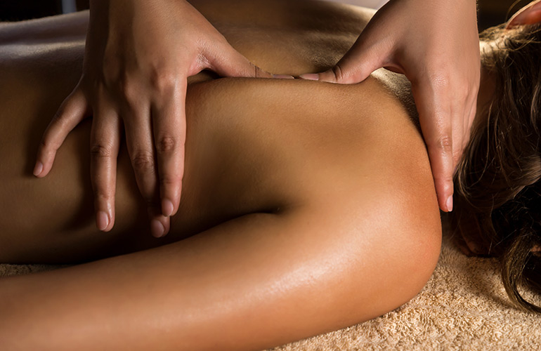 Get a 12-minute massage three times a week
