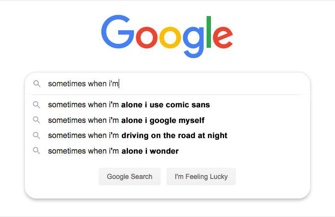 """""""Sometimes when I'm…"""""""