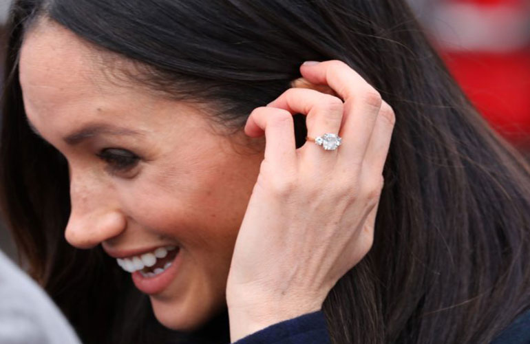 She redesigned her engagement ring