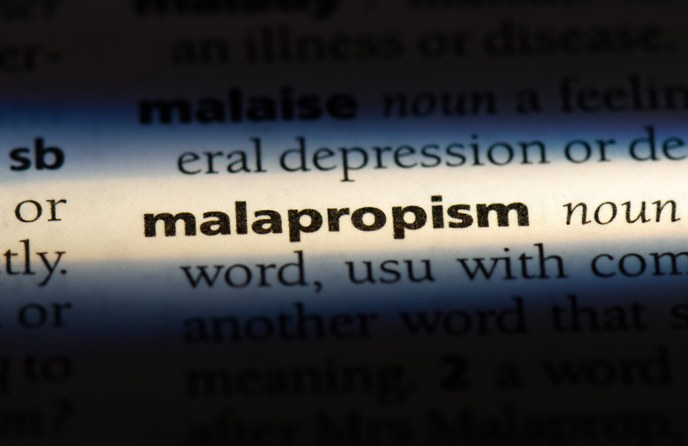 What is a malapropism?