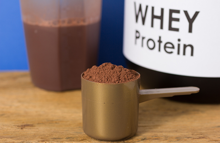 Whey protein shakes can cause acne flare-ups