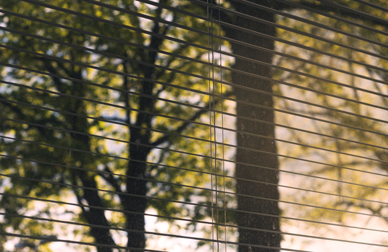 Keep your blinds half-open