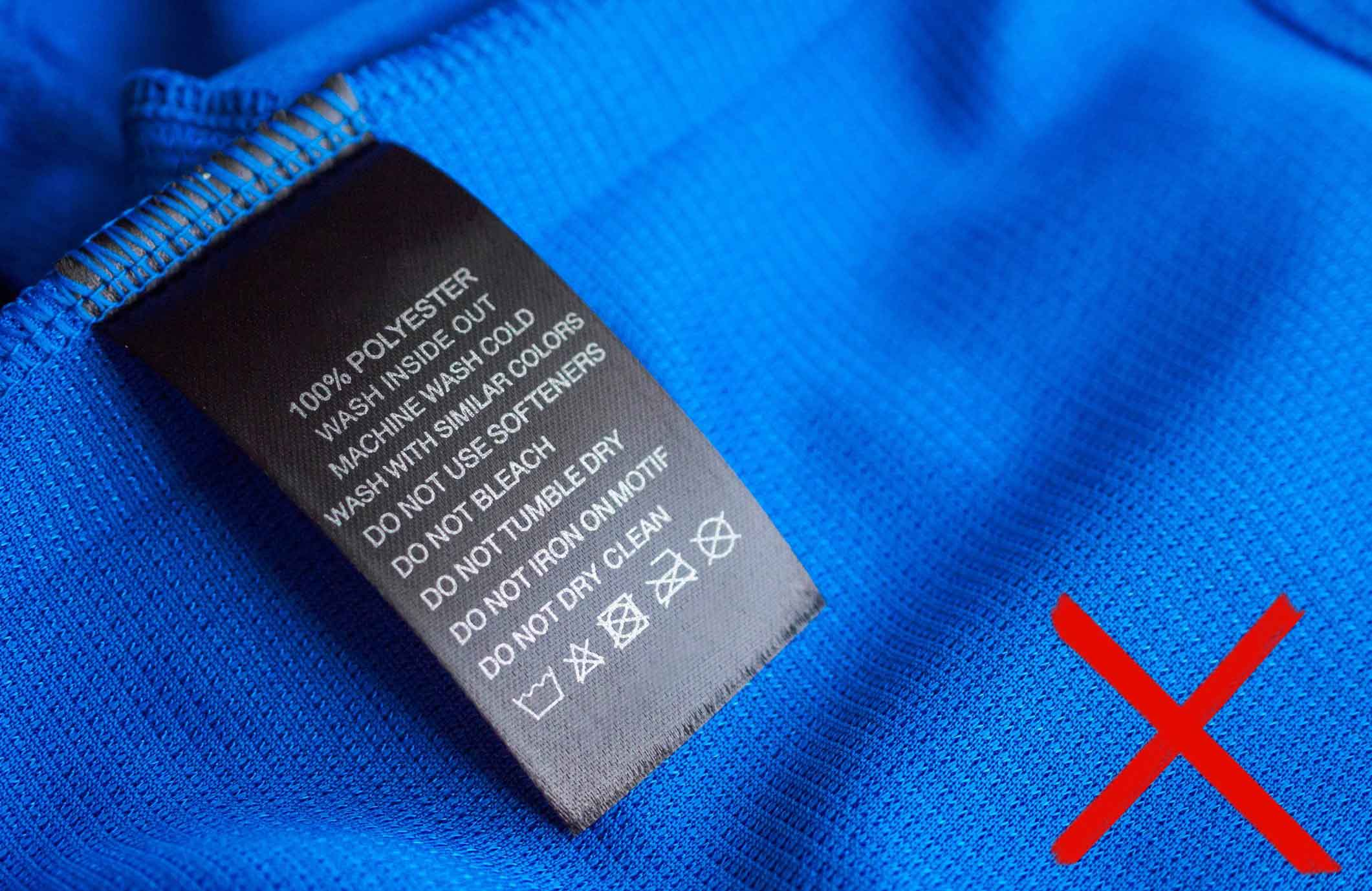 You can ignore the fabric care label